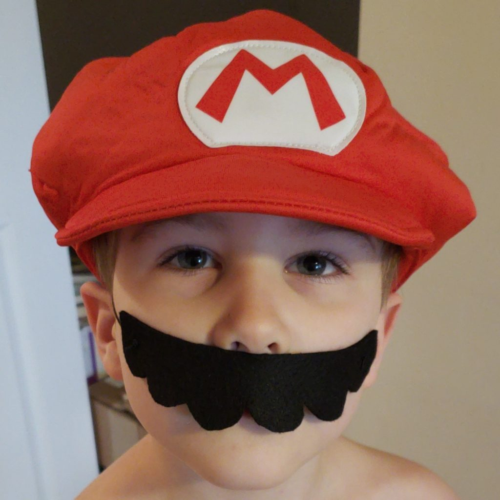 My little Mario | Mario Mustache DIY Marching North